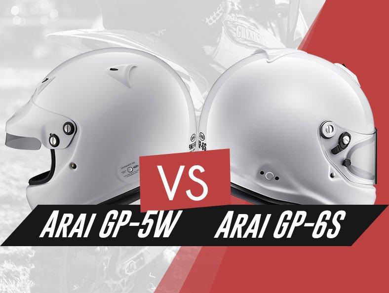 our in depth Arai GP-5W vs Arai GP-6S helmets