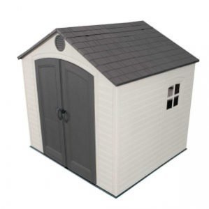 product image of Lifetime 6411 Outdoor storage shed for motorcycle
