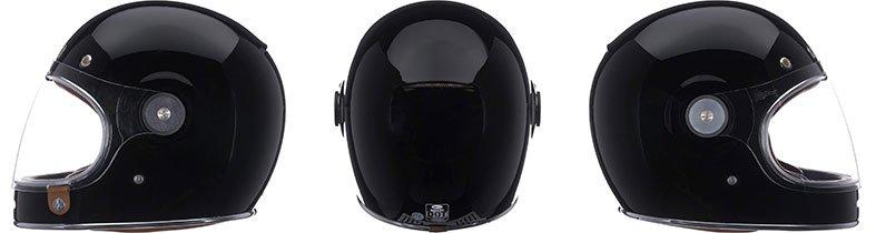 three different angles of bell bullitt-helmet