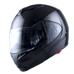 1Storm Motorcycle Street Bike Helmet Carbon Fiber Black