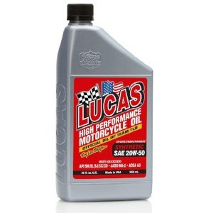 PRODUCT IMAGE OF Lucas Oil 10702-PK6 High Performance Synthetic 20W-50 Motorcycle Oil