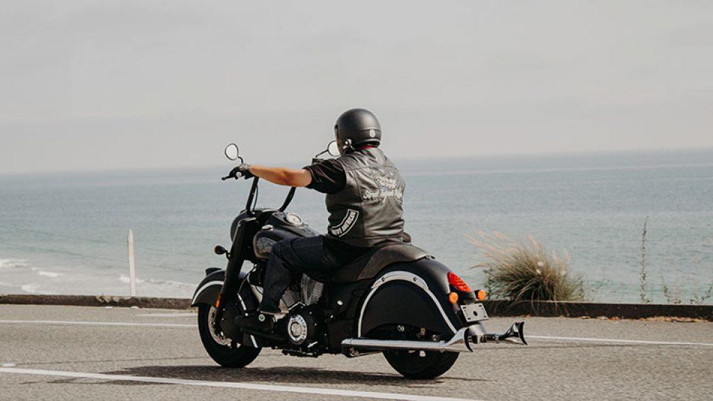 a man enjoys his bike riding