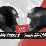 our comparison of AGV Corsa R and Shoei RF-1200