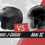 our comparison of Shoei J-Cruise vs Arai XC helmets