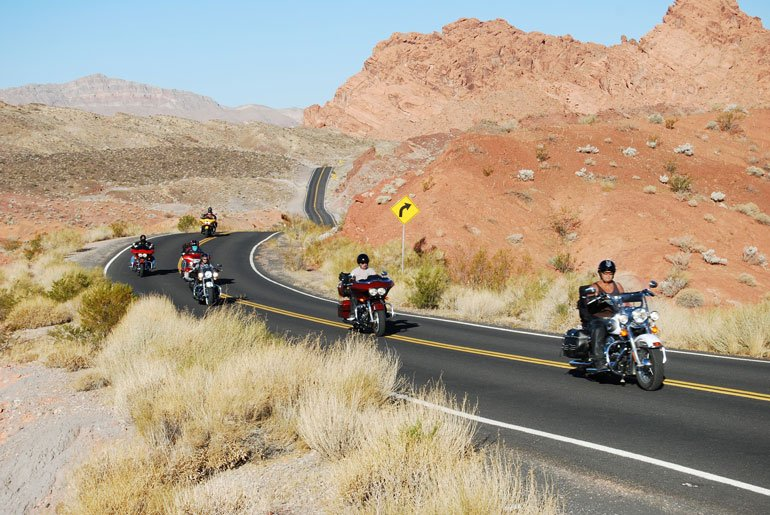Veterans Riding Motorcycles