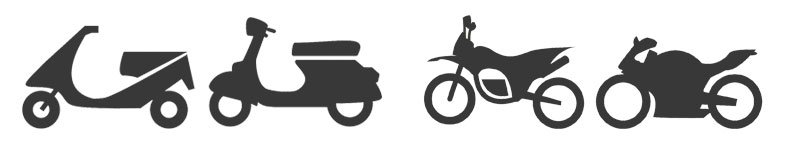 different types of motorcycles icons