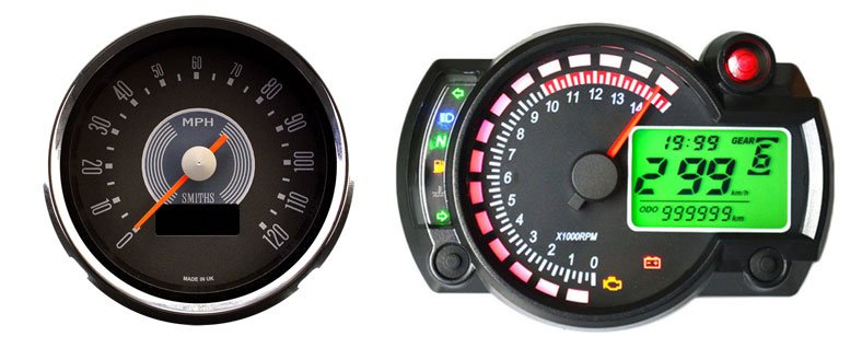 image of Analog and Digital speedometers