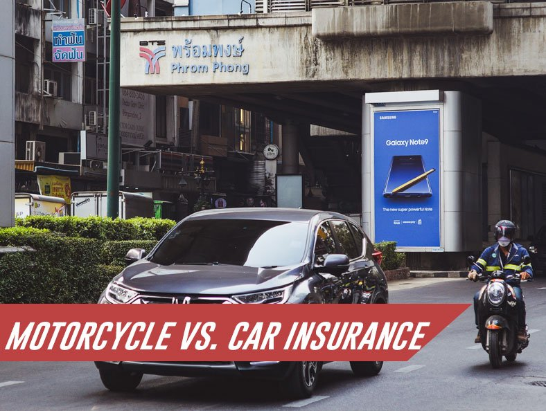 motorcycle vs. car insurance featured image