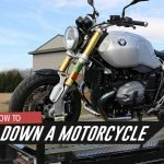 different ways of how you can tie down a motorcycle