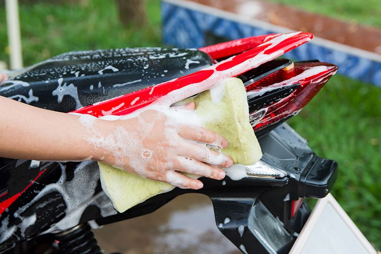 Washing the Motorcycle