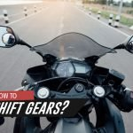 Shifting gears on motorcycle