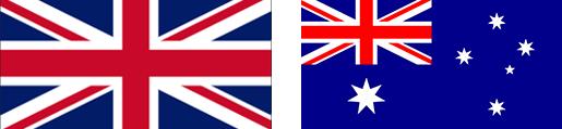 UK and Australian Flag