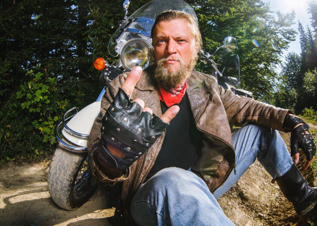 image of male biker