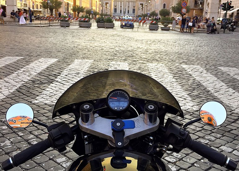 image of motorbike in the city center