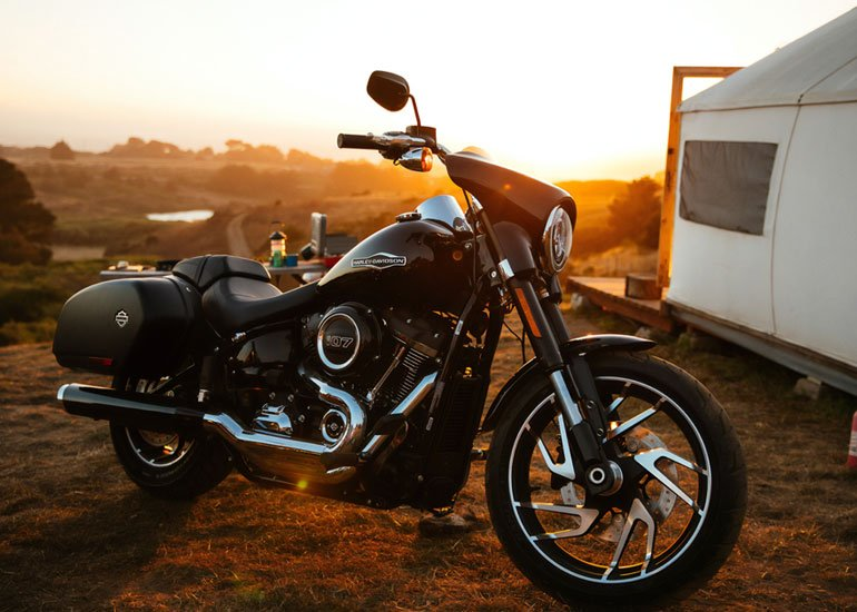 image of parked motorcycle