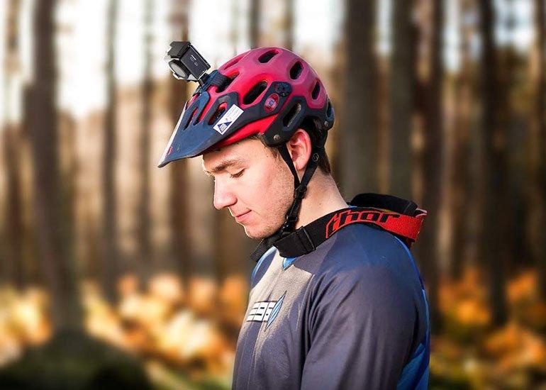 image of waterproof helmet camera