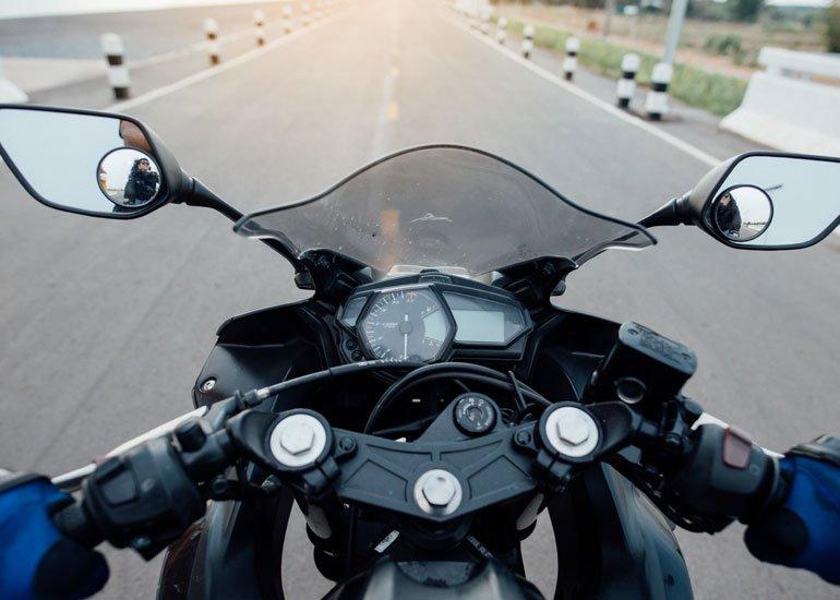 image of motorbike road riding having fun