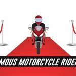 image of motorcycle rider on red carpet