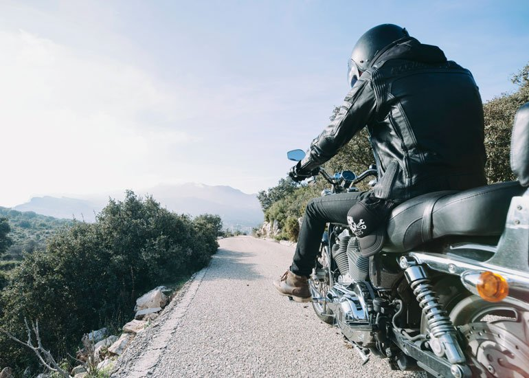 image of person riding nice motorbike