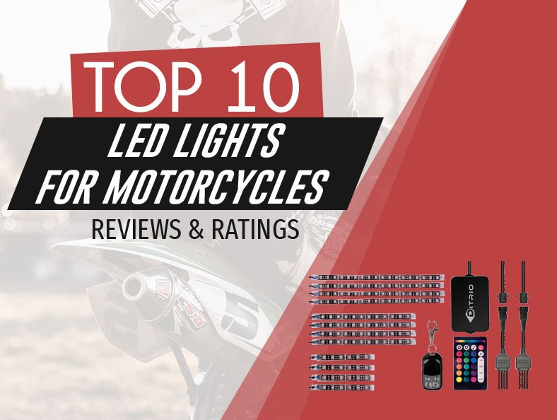 image of top rated led lights for motorcycles