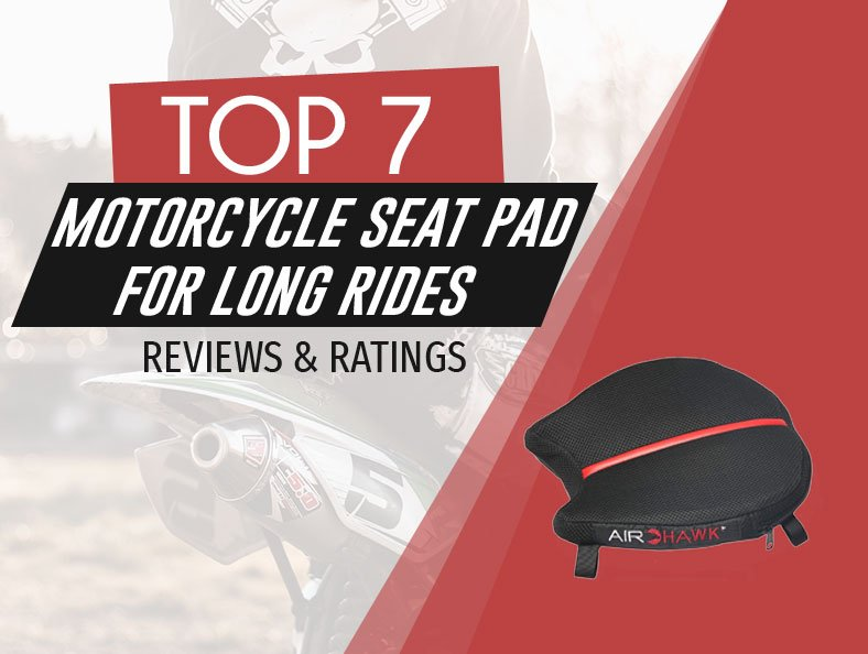 image of top rated motorcycle seat pad for long rides