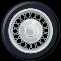 Motorcycle Wheel Illustration