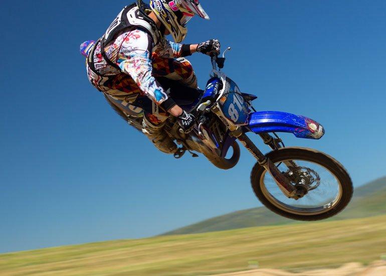image of motorbike jumping