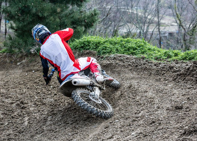 image of professional motocross motorcycle rider