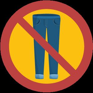 No Jeans Sign Illustration