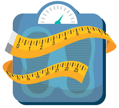 illustration of body weight scales
