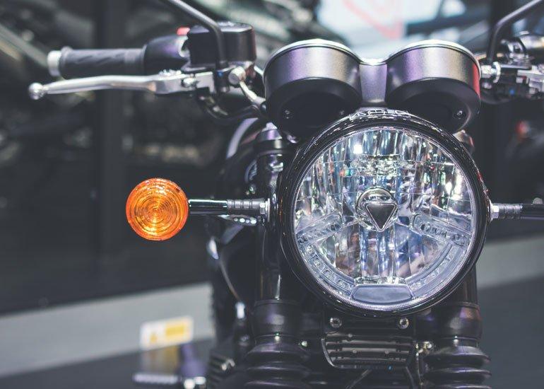 image of led turn signal for motorbike