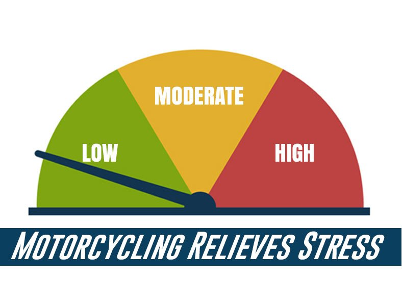 motorcycling reduce stress level