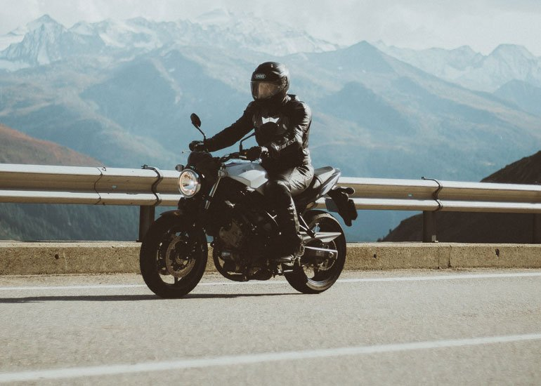 image of man in motorcycle chaps