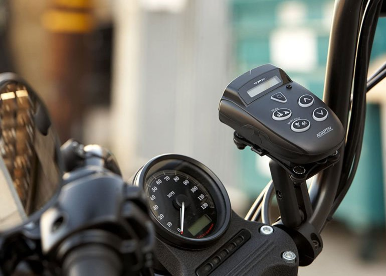image of motorcycle radar detector