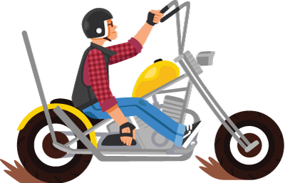 A Man Riding A Big Motorcycle