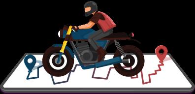Long Distance Motorbike Ride