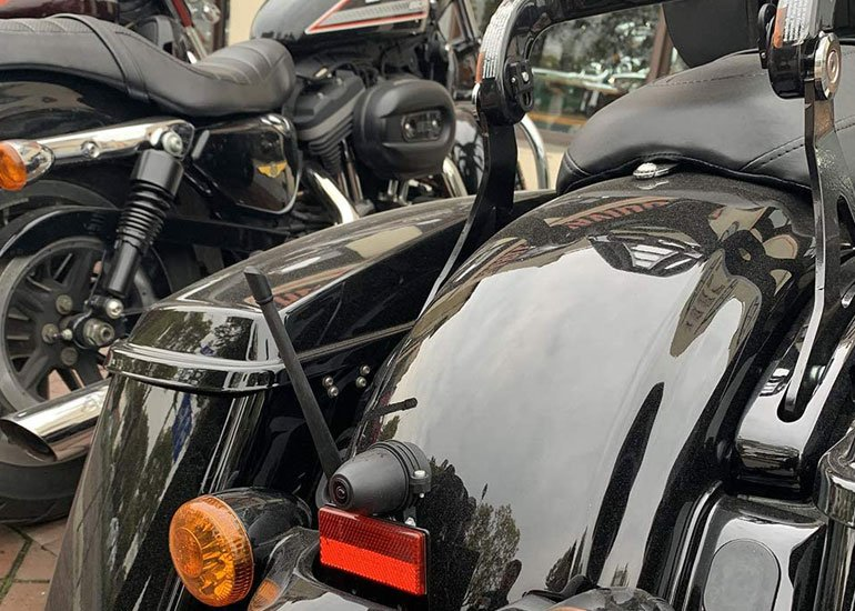 image of antenna for harley motorbike