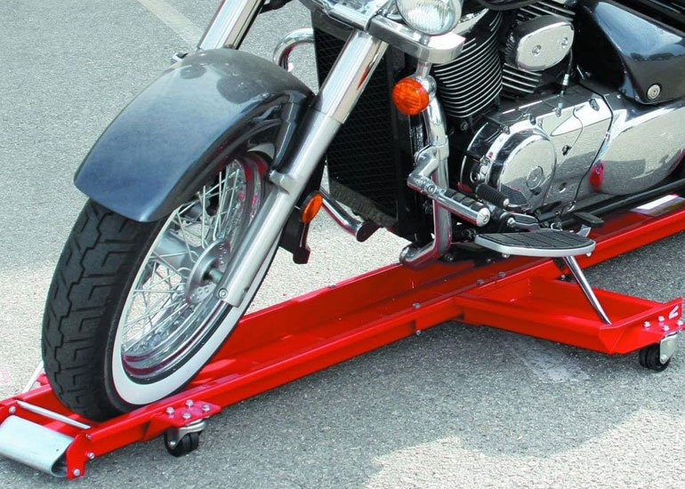image of cruiser motorcycle dolly