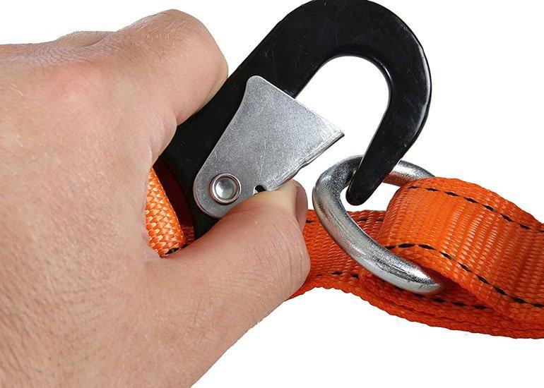 image of tie down strap focus